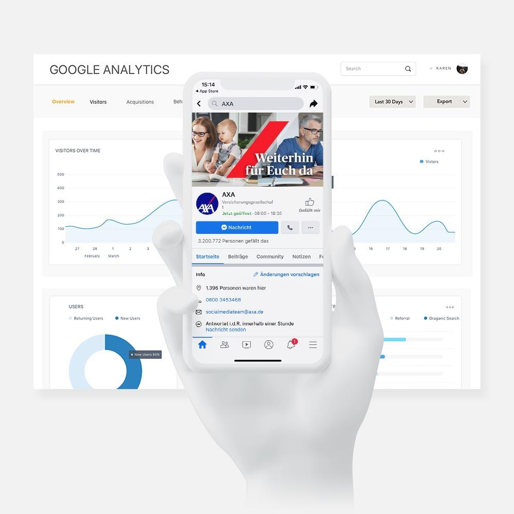 google analytics dashboard axa