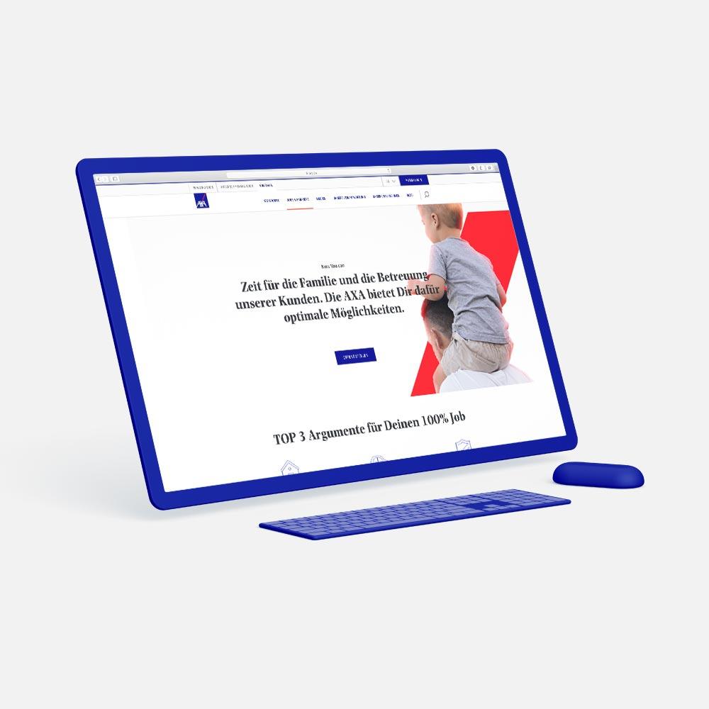 laptop mit screenshot landingpageoptimierung